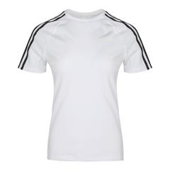 adidas阿迪達斯女子D2M 3S TEE圓領短T恤EH8723