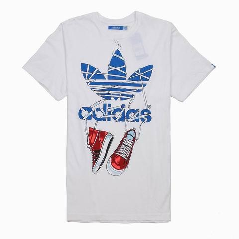 阿迪达斯adidas三叶草男式短袖t恤 x34428