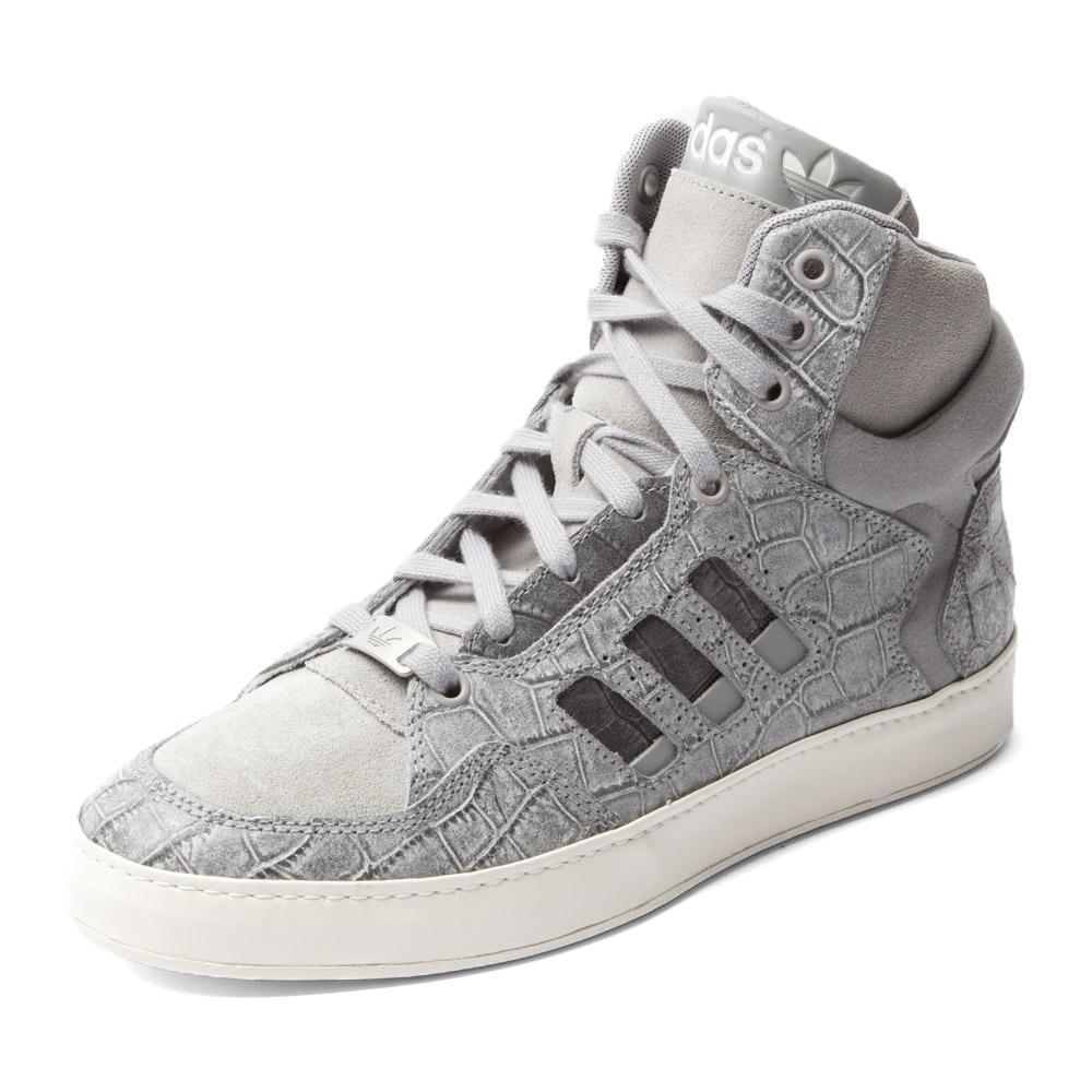 三叶草系列 色系: 灰色 鞋帮: 高帮 性别: 女子 运动项目: 板鞋/休闲图片