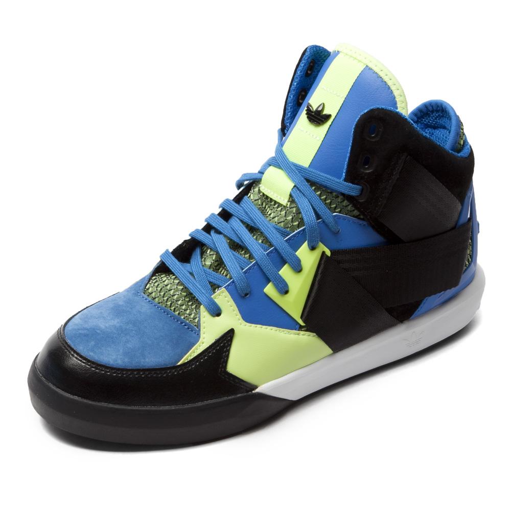 三叶草系列 色系: 蓝色 鞋帮: 高帮 性别: 中性 运动项目: 板鞋/休闲图片
