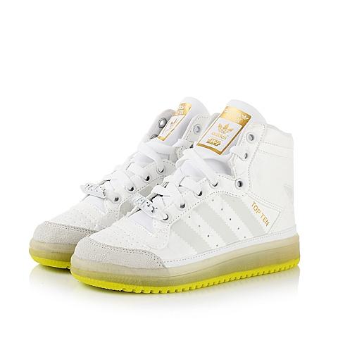 Adidas/阿迪三叶草春季专柜同款白色男小中童鞋运动鞋板鞋B35566