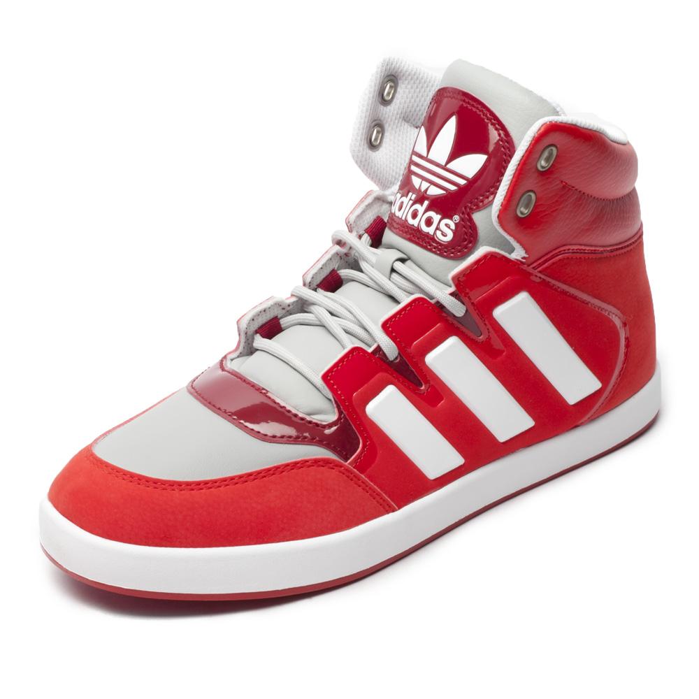 三叶草系列 色系: 红色 鞋帮: 高帮 性别: 中性 运动项目: 板鞋/休闲图片