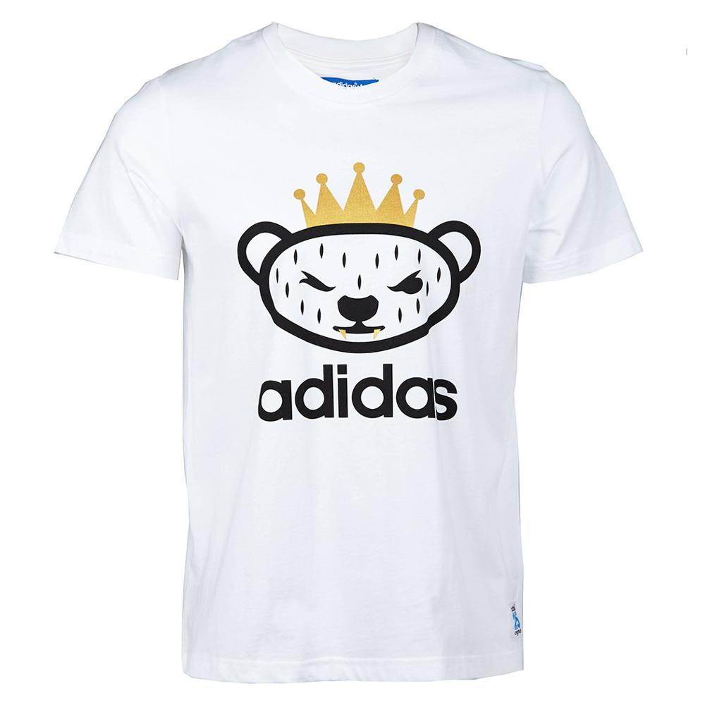adidas阿迪三叶草 新款男子短袖t恤s07784 白色 s