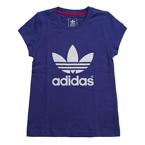 adidas阿迪三叶草新款专柜同款女童三叶草系列T恤S14416
