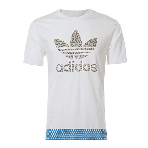 adidas阿迪三叶草新款男子三叶草系列T恤S27510