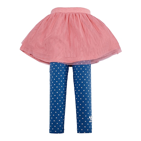 adidas阿迪三叶草新款专柜同款女童三叶草系列裙裤S14382