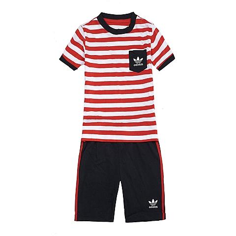 adidas阿迪三叶草新款专柜同款男童三叶草系列套服S14362