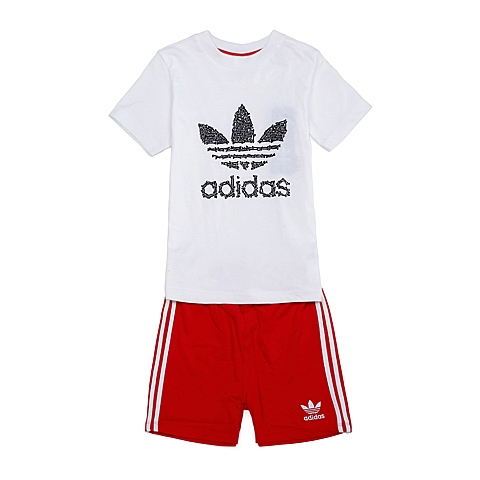adidas阿迪三叶草新款专柜同款男童三叶草系列套服S14367