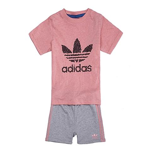 adidas阿迪三叶草新款专柜同款女童三叶草系列套服S14383