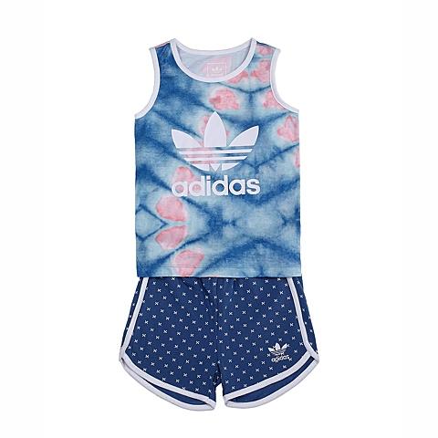 adidas阿迪三叶草新款专柜同款女童三叶草系列套服S14385