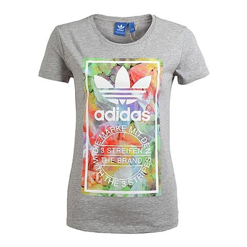 adidas阿迪三叶草新款女子三叶草系列T恤S19247