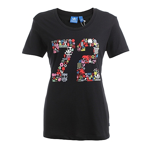 adidas阿迪三叶草新款女子三叶草系列T恤S19527