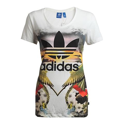adidas阿迪三叶草新款女子三叶草系列T恤S18507