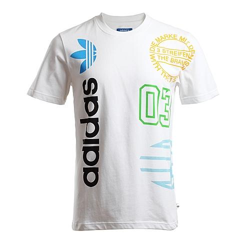 adidas阿迪三叶草新款男子三叶草系列T恤S27543