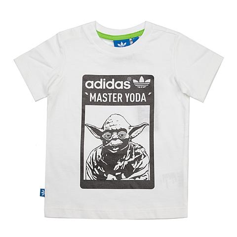 adidas阿迪三叶草新款专柜同款男婴童三叶草系列T恤S14387