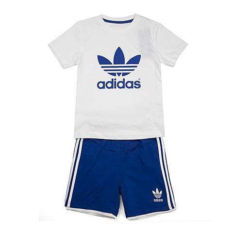adidas阿迪三叶草新款专柜同款男婴童三叶草系列套服S14336