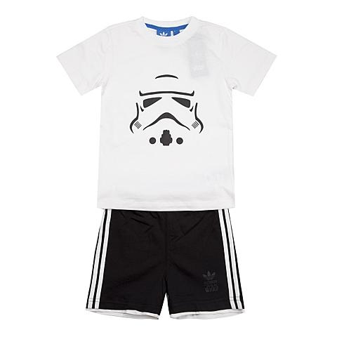 adidas阿迪三叶草新款专柜同款男婴童三叶草系列套服S14391