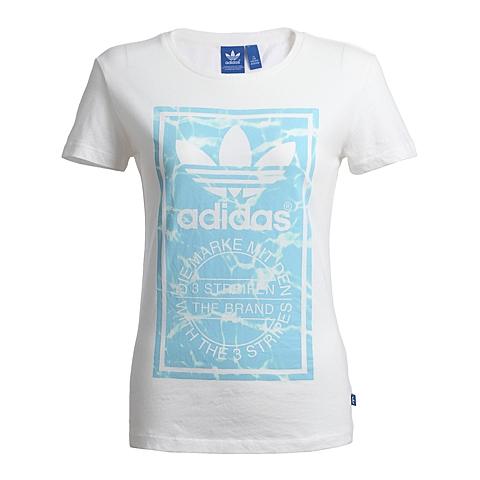 adidas阿迪三叶草新款女子T恤S18498