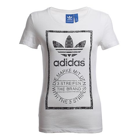 adidas阿迪三叶草新款女子短袖T恤AB2317