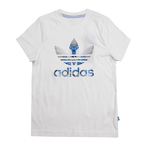 adidas阿迪三叶草新款专柜同款大童女短袖T恤AB2239