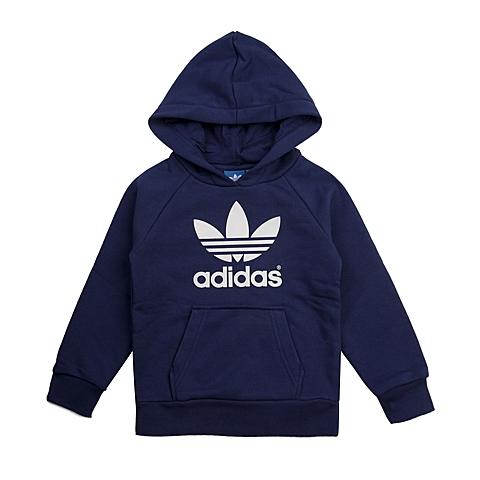 adidas阿迪三叶草新款专柜同款大童男套头衫AB2196