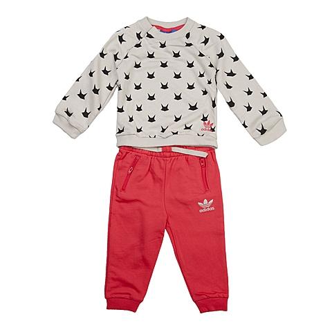 adidas阿迪三叶草新款专柜同款女婴长袖套服AB1794