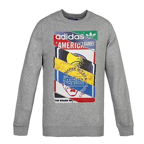 adidas阿迪三叶草新款男子三叶草系列套头衫AB7688