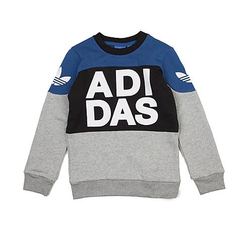 adidas阿迪三叶草新款专柜同款大童男套头衫AJ0270