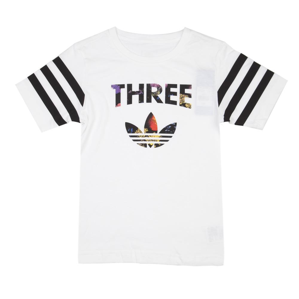 adidas阿迪三叶草2016新款专柜同款大童女短袖t恤aj0034