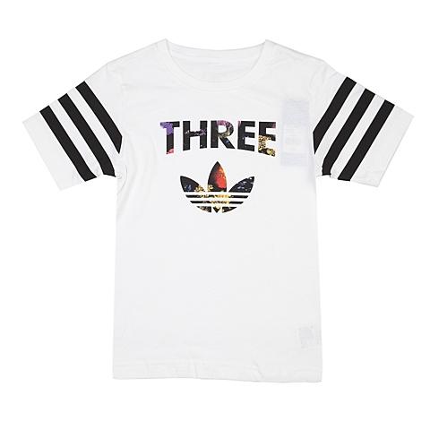 adidas阿迪三叶草新款专柜同款大童女短袖T恤AJ0034
