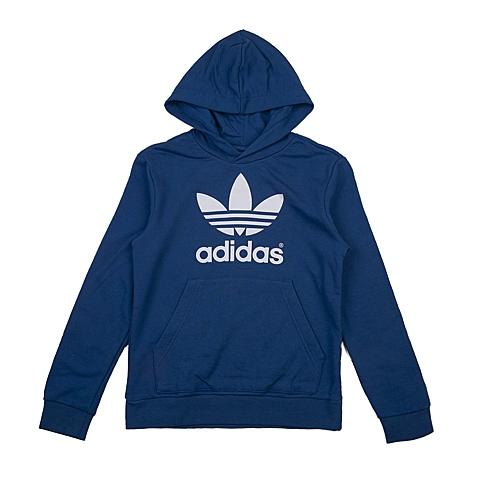 adidas阿迪三叶草新款专柜同款大童男套头衫AO0072
