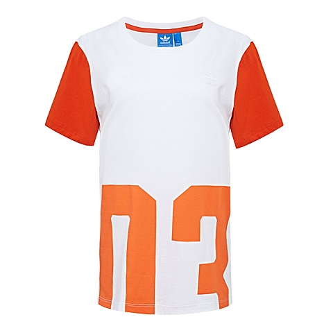 adidas阿迪三叶草新款女子三叶草系列短袖T恤AJ8860