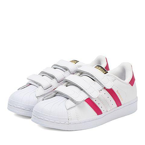 adidas阿迪三叶草2017新款女小童SUPERSTAR FOUNDATION CF C休闲鞋B23665