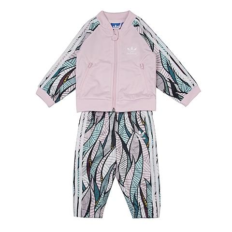adidas阿迪三叶草新款专柜同款女婴童长袖套服AJ0027
