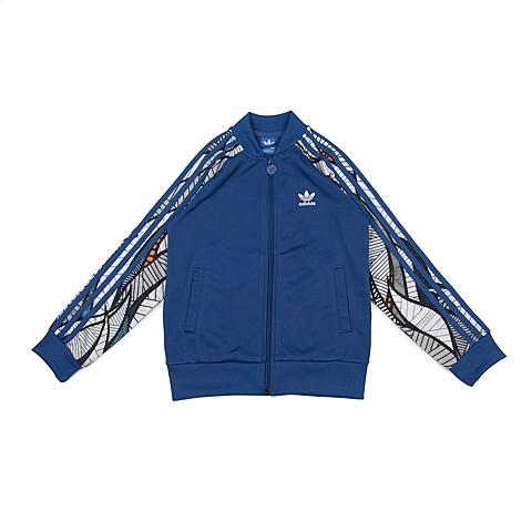 adidas阿迪三叶草专柜同款男大童针织茄克AJ0263