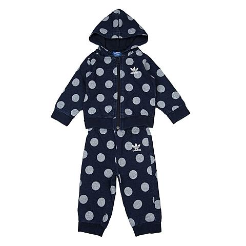 adidas阿迪三叶草新款专柜同款女婴童长袖套服AJ0244