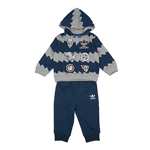 adidas阿迪三叶草新款专柜同款男婴童长袖套服AJ0233
