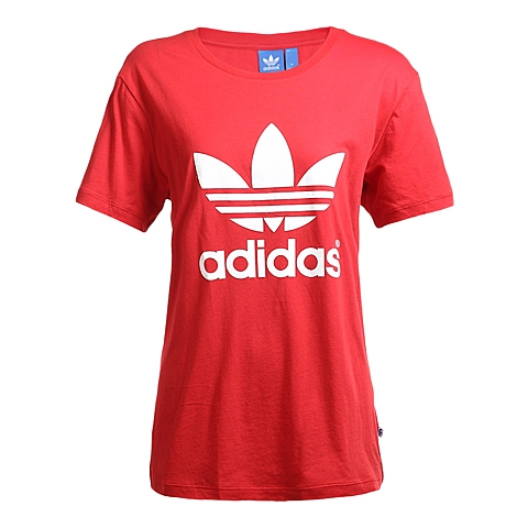 adidas阿迪三叶草新款女子三叶草系列短袖T恤AJ8114