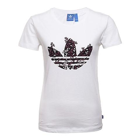 adidas阿迪三叶草新款女子三叶草系列短袖T恤AJ8914
