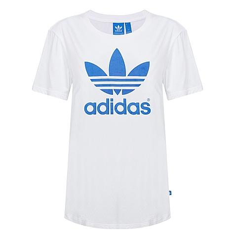 adidas 阿迪三叶草新款女子休闲系列短袖T恤AJ8349