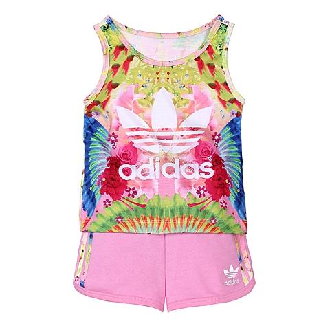 adidas阿迪三叶草新款专柜同款女婴童短袖套服AJ0024