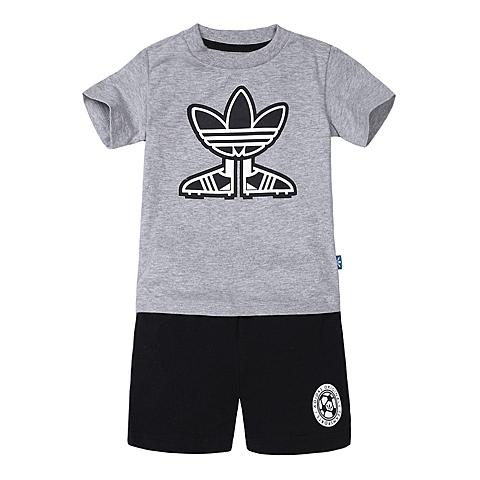 adidas阿迪三叶草新款专柜同款男婴童短袖套服AJ0235