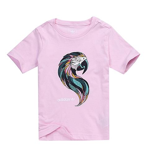 adidas阿迪三叶草新款专柜同款女大童短袖T恤AJ0073