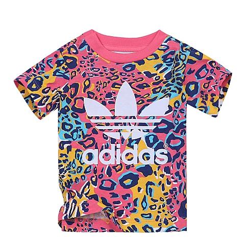 adidas阿迪三叶草2016新款专柜同款女婴童短袖T恤AI9992
