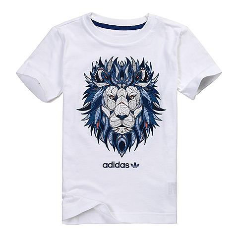 adidas阿迪三叶草新款专柜同款男大童短袖T恤AJ0260