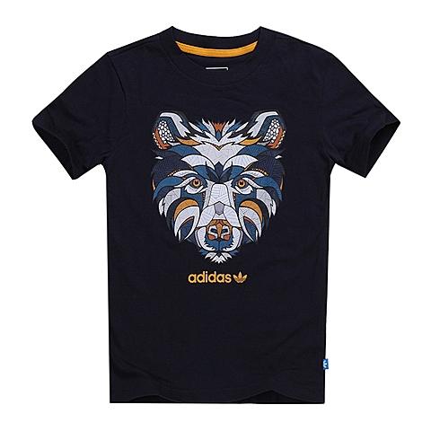 adidas阿迪三叶草新款专柜同款男大童短袖T恤AJ0261