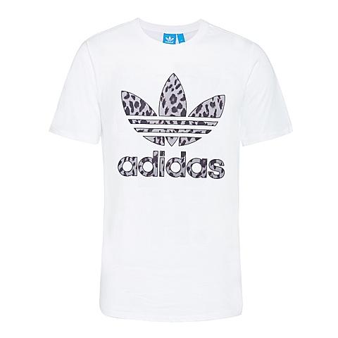 adidas阿迪三叶草新款女子三叶草系列短袖T恤AJ8366