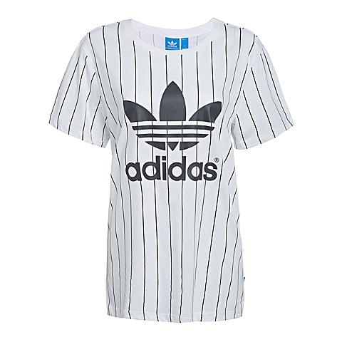 adidas阿迪三叶草新款女子三叶草系列短袖T恤AJ8347