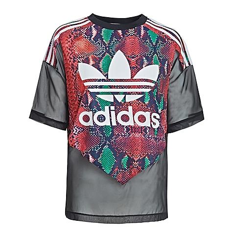adidas阿迪三叶草2016年新款女子三叶草系列短袖T恤AJ8533
