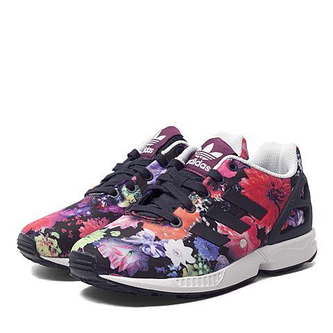 adidas阿迪三叶草新款专柜同款女小童ZX FLUX系列休闲鞋S74959
